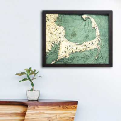 cape cod 3d wooden map, nautical decor, gifts