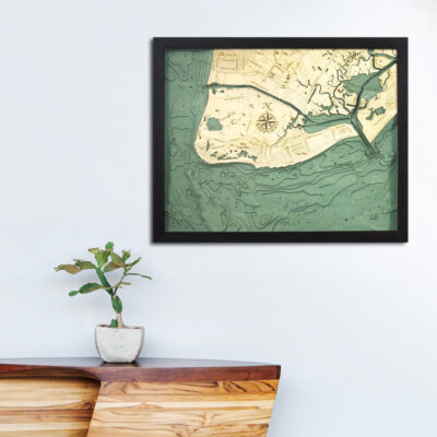 cape may 3d wood map wall art poster