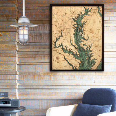 Chesapeake 3d wood map, Chesapeake bay poster, Chesapeake Bay gift ideas