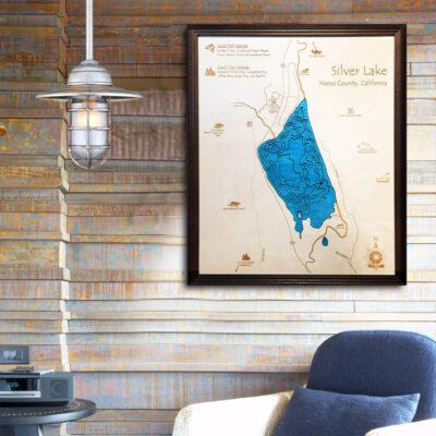 Silver Lake 3d wood map