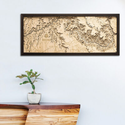 Grand Canyon 3d wood map, Grand Canyon poster, Grand Canyon wall art