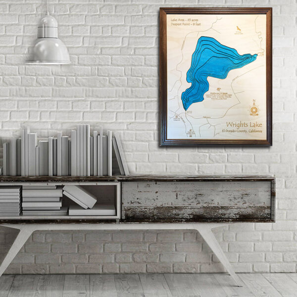 Wrights Lake 3d wooden map