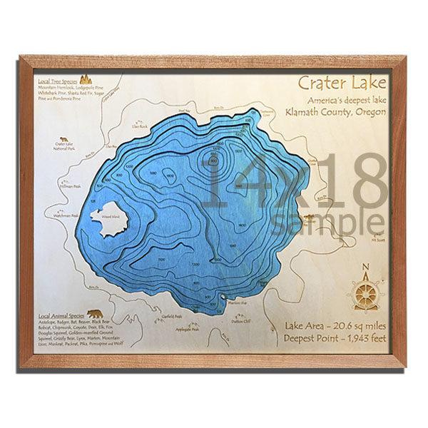 14″ x 18″ 3-D Wood Chart