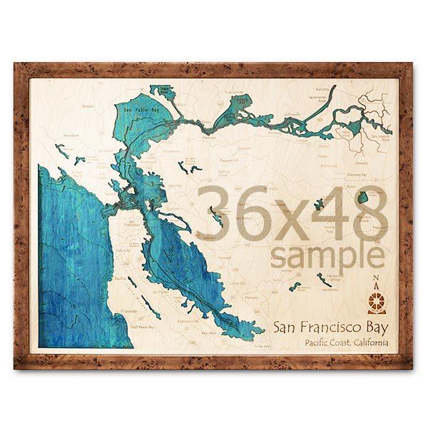 36″ x 48″ 3-D Wood Chart
