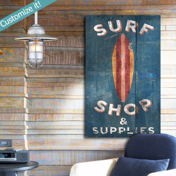 Personalized Surfing Sign, Surfing Wall Art, Nautical Decor