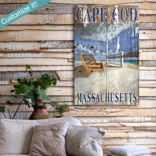 Cape Code Sign, Cape Cod Vintage Sign, Cape Cod Souvenir
