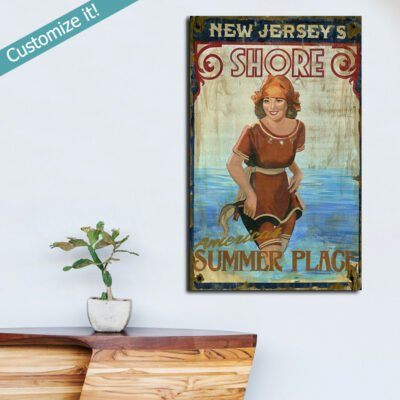 Jersey Shore Sign, New Jersey Shore Beach Decor, NJ Shore Wall Art