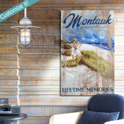 Montauk Beach Sign, Montauk Long Island Nautical Decor