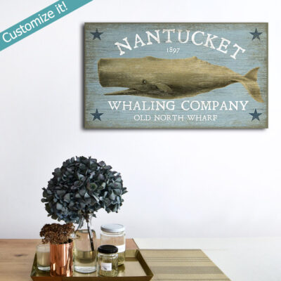 Nantucket Whaling Company Vintage Sign, Nautical Decor