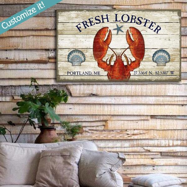Lobster Decor, Lobster Wall Art, Nautical Decor