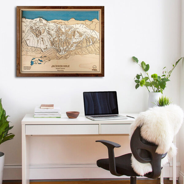 Jackson Hole Trail Map for sale, Ski Decor, Gifts for Skiers and Snowboarders