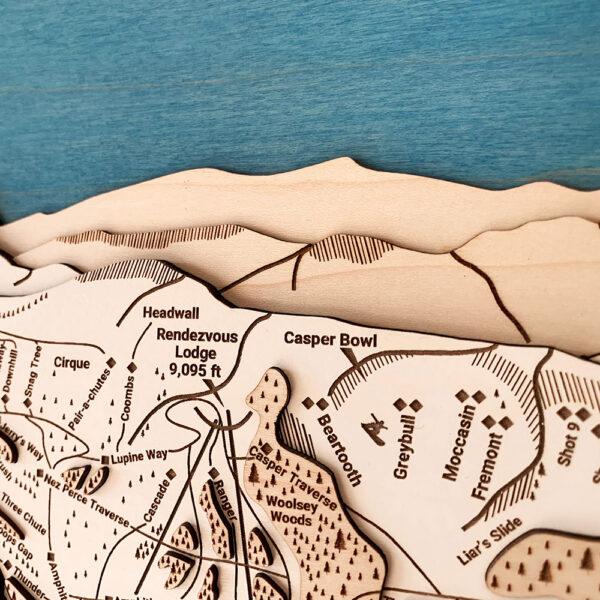 Jackson Hole Wall Art, 3D Wooden Map