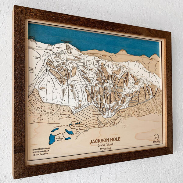 Jackson Hole Ski Trail Map, Skiing Decor, Gift for Skiers