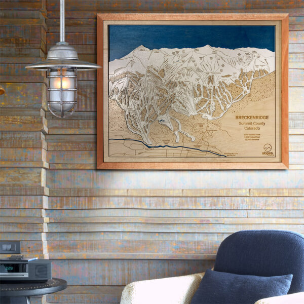 Breckenridge Ski Resort Trail Map for Sale, 3D Wood Trail Map