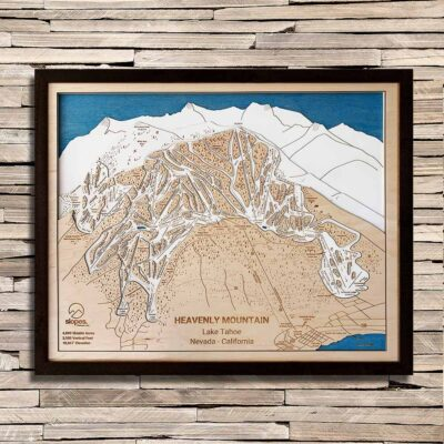 Heavenly Mountain Trail Map Art