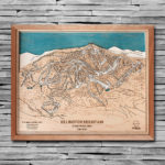 Killington Trail Map Art, Killington Ski Sign, Ski Decor