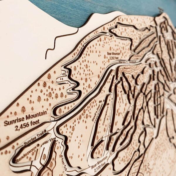 Killington Mountain Vermont 3D Map Sign