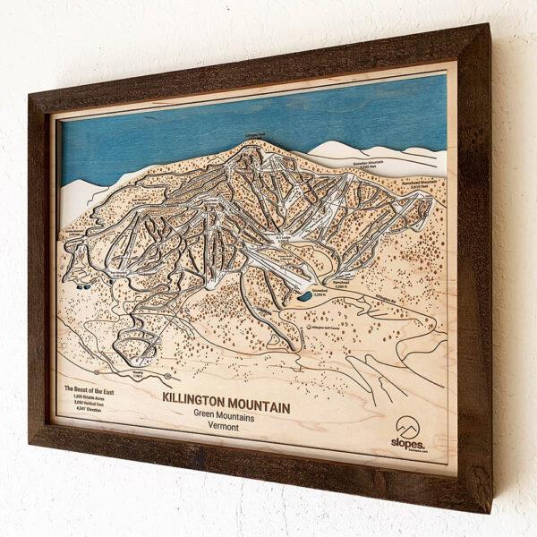 Killington Mountain Framed Trail Map