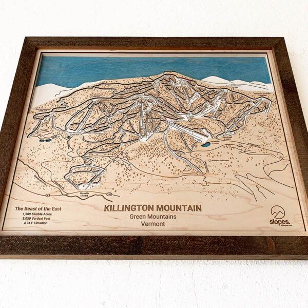Killington Mountain Vermont Wooden Sign