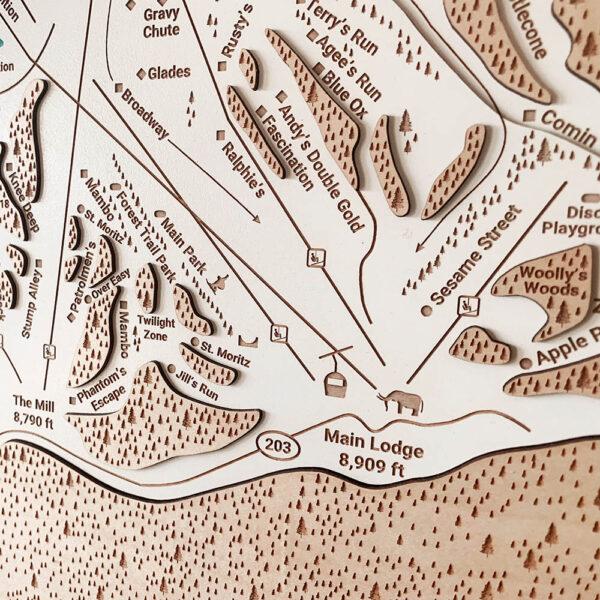 Mammoth Trail Map Wall Art
