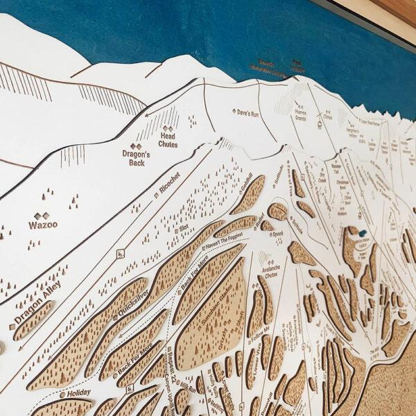 Mammoth Mountain Trail Map in California, ski cabin decor