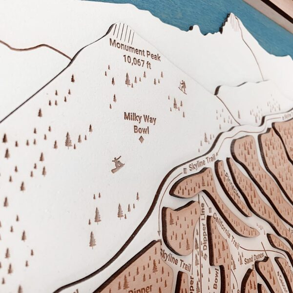 Heavenly Mountain Lake Tahoe Trail Map for sale