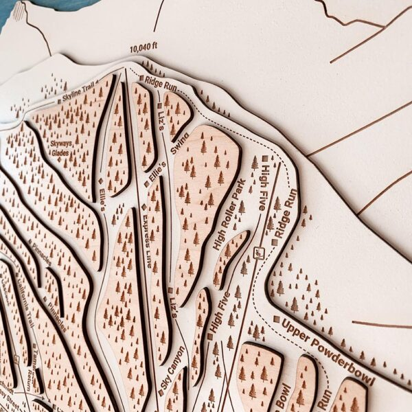 Zoom view of Heavenly Mountain Trail Map
