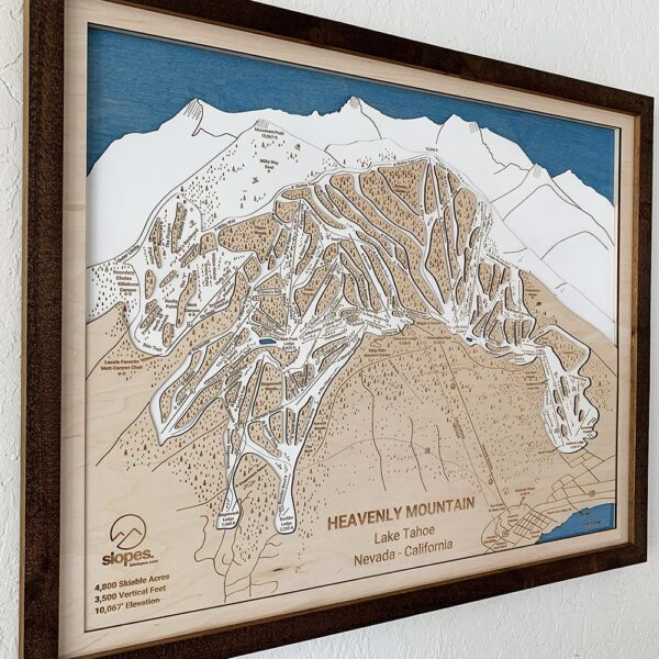 Heavenly Resort Ski Trail Map, wooden home decor