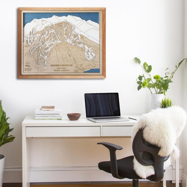 Heavenly Trail Map, Ski Decor, Ski House Art