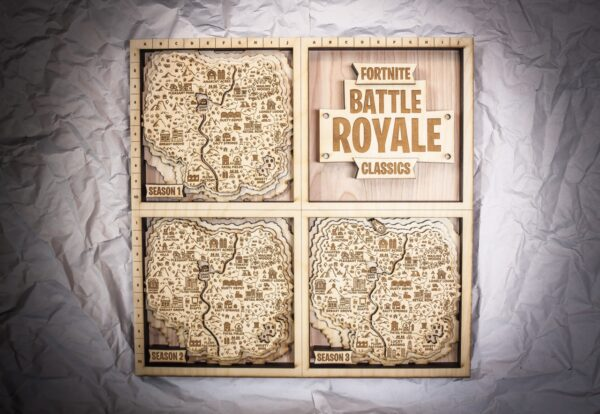 FORTNITE Classics Wooden Map, FORTNITE FAN ART, 3D Map