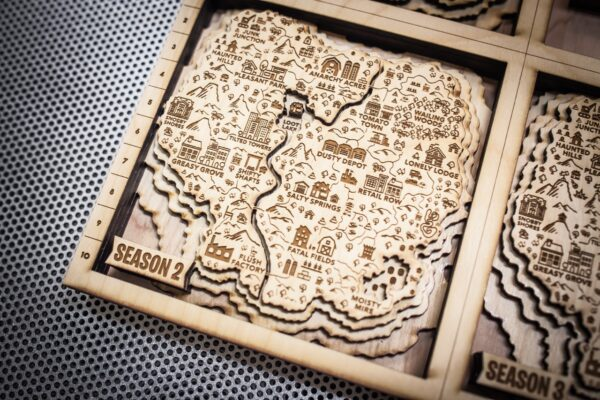 Fortnite Season 2 Wooden Map, Fortnite 3D Fan Art