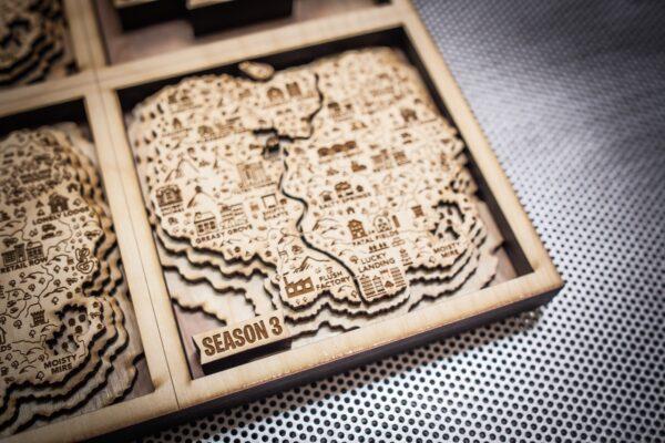 Fortnite Season 3 Fan Art, Fortnite Wooden Map in 3D