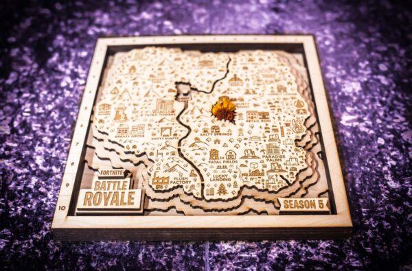Fortnite Battle Royale Season 5 Map, Wall Art, Fan Art