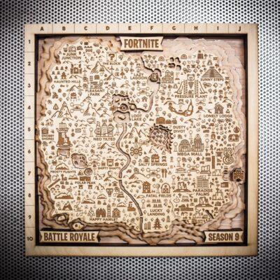 Fortnite Season Nine Wooden Map, Fortnite Fan Map