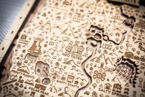 Fortnite Season Nine Wooden Map, Fortnite Fan Art