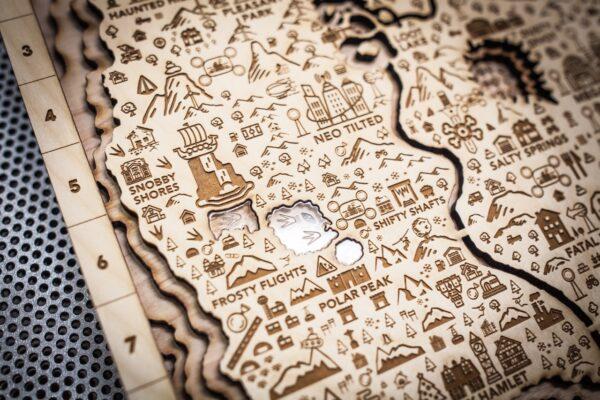 Fortnite Season Nine Wooden Map, 3d Wall Art