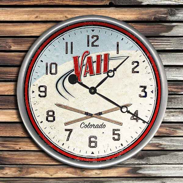 Personalized Vail Colorado Wood Clock