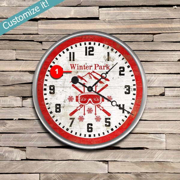 Custom Winter Park Colorado Clock