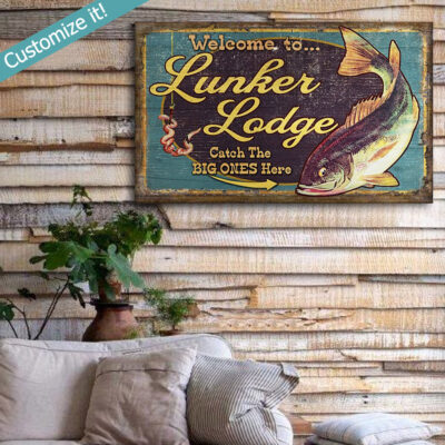 Personalized Bass Fishing Gift, Fishing Wall Art, Custom Text