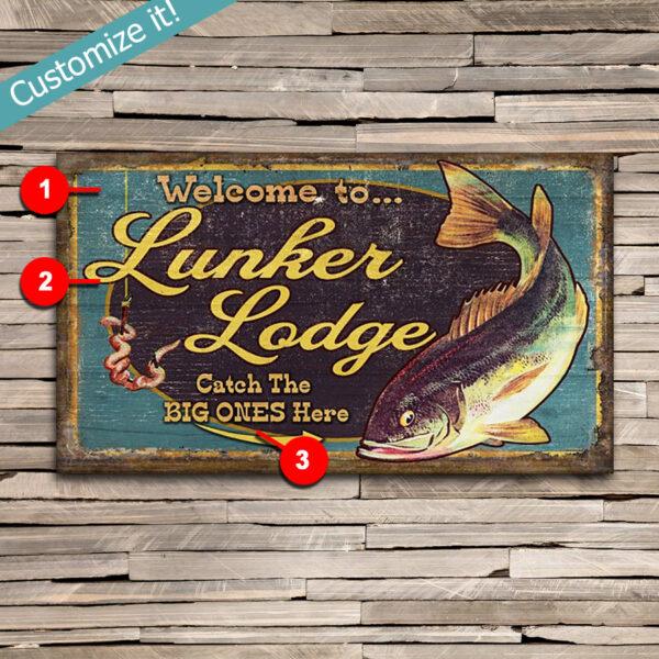 Personalized Fishing Gift, Fishing Wall Art, Lake House Decor
