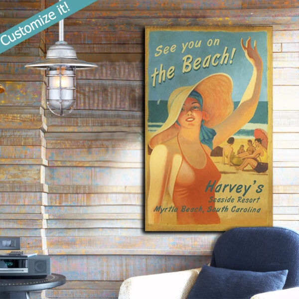 Custom Nautical Decor, Wooden Beach House Sign
