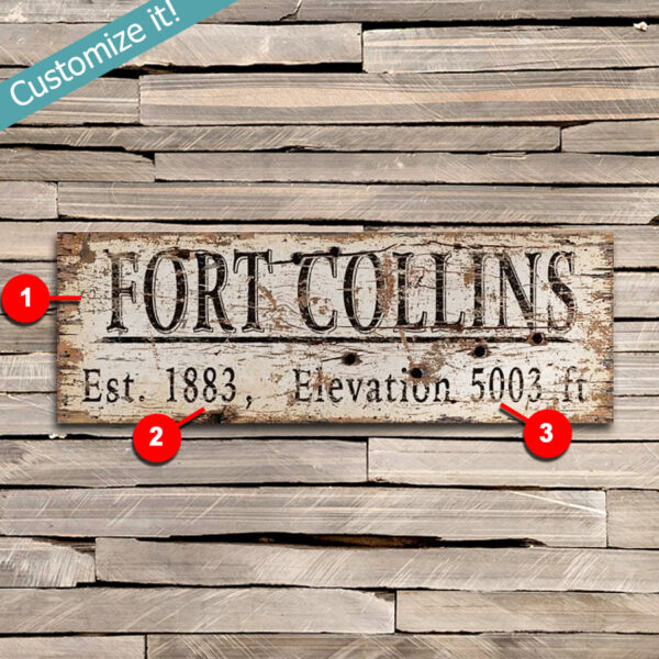 Personalized City Sign, Wooden Wall Art featuring your hometown