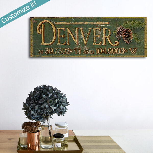 Personalized Your Hometown Here City Sign