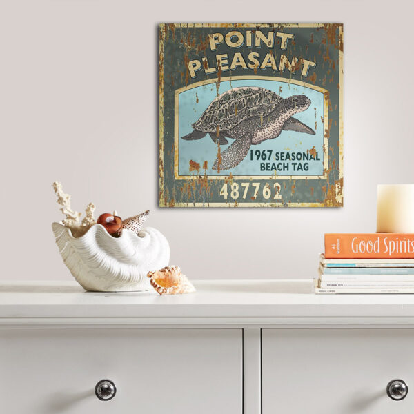Personalized Point Pleasant NJ Beach Tag Wooden Sign