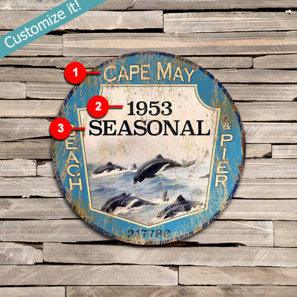 Custom Cape May NJ Beach Season Pass