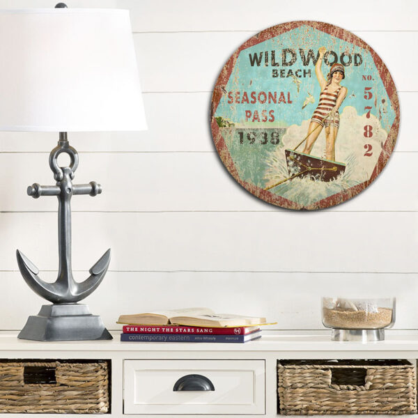 Wildwood New Jersey Beach Wall Art, Beach House decor