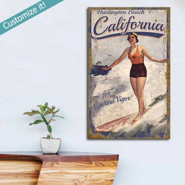 Surfing Wall Art, Surf Poster, Gifts for Surfers, Surfing Decor