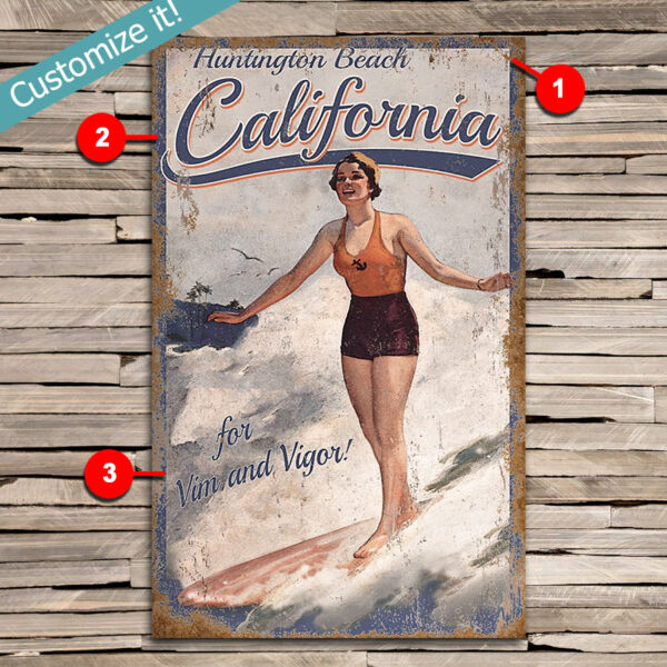 Custom Surfing Sign, Personalized Gifts For Surfers, Wall Art