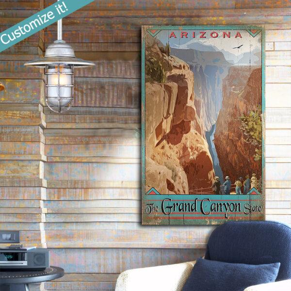 Retro Grand Canyon Wall Art