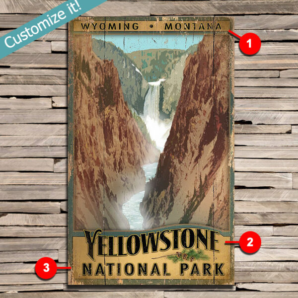 Custom Yellowstone Poster, Yellowstone National Park Wall ARt